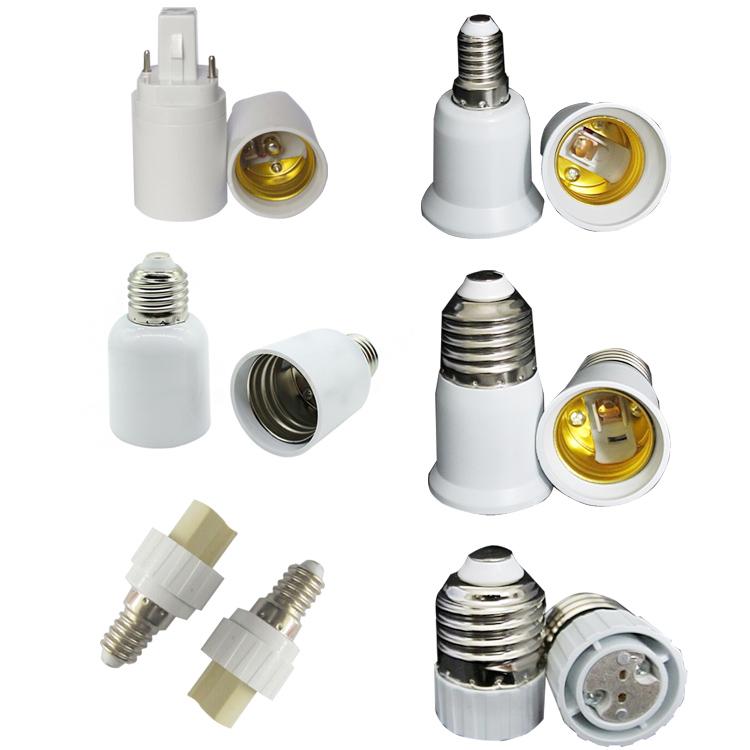 Tornillo de E14 a E27 Base LED Luz Bombilla Adaptador Convertidor de Socket titular SK
