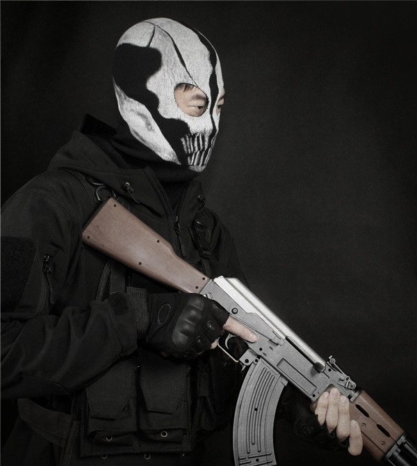 Wholesale Cod Ghost Mask Skull Extinction Full Face Mask Cosplay