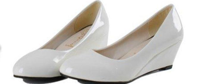 Womens Leather Wedge heels Shoes Oxfords Breathable Nurse White Soft Cut out