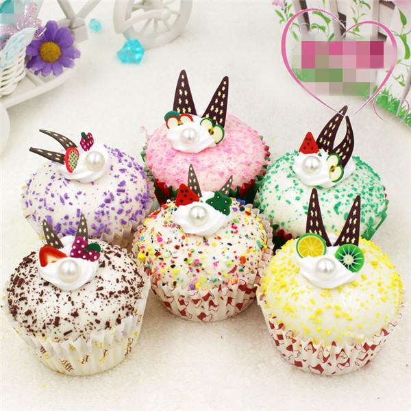 Artificial Cupcake squishy toys 6pcs - 10