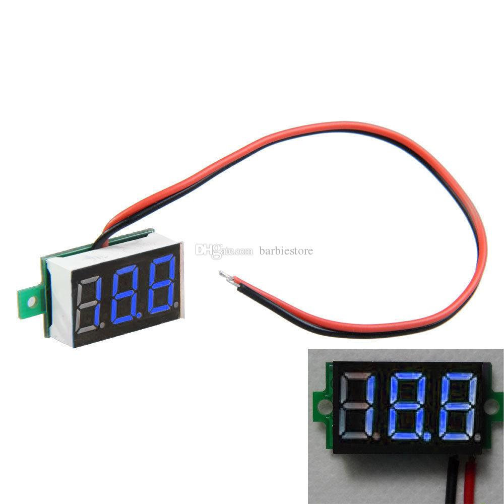 Nuevo Directo De Corriente De 0V a 99.9V Medidor de panel LED Azul voltímetro digital Mini