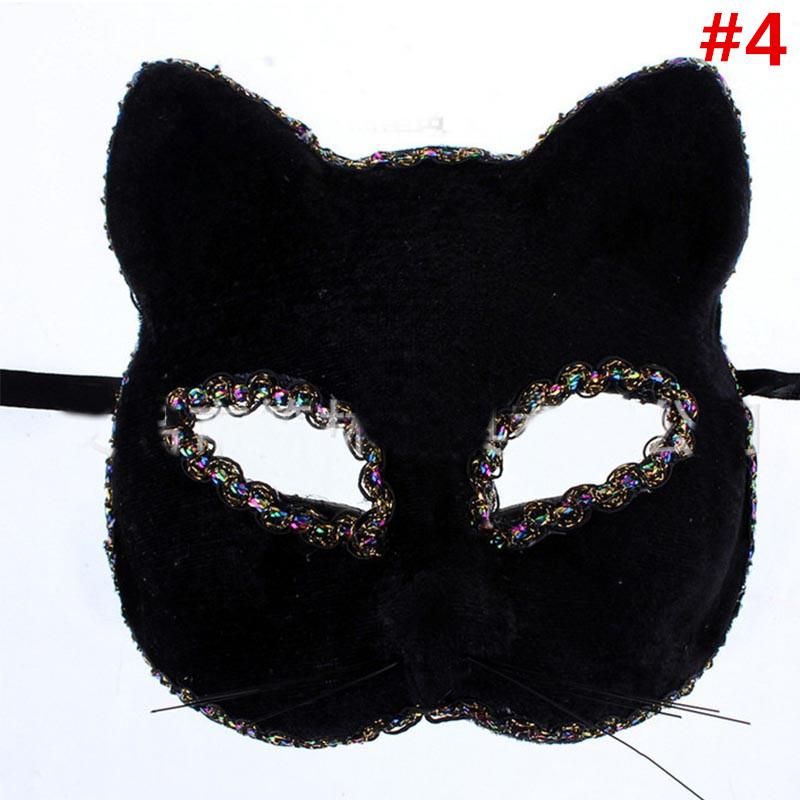Wholesale Painting Cat Venetian Masquerade Mask Princess Lady