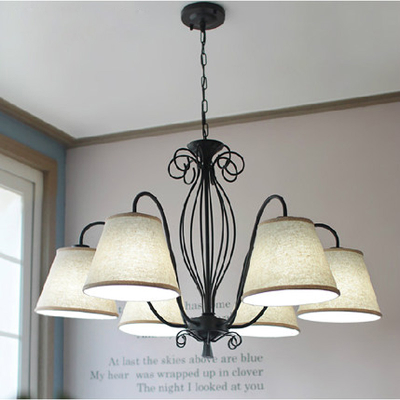 Norse Droplight American Countryside Iron Chandelier Vintage
