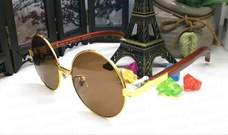 2020 new fashion sport round buffalo sunglasses for men cool full frame and black gray brown clear multi color lenses wooden sun glasses