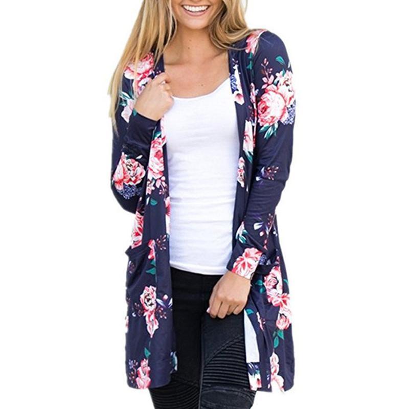 Herbst plus Größe Frauen T-Shirt Tunika Tops mit langen Ärmeln ethnischen Blumendruck elegante Strand T Shirts Tops in weiß rosa Frau Kleidung