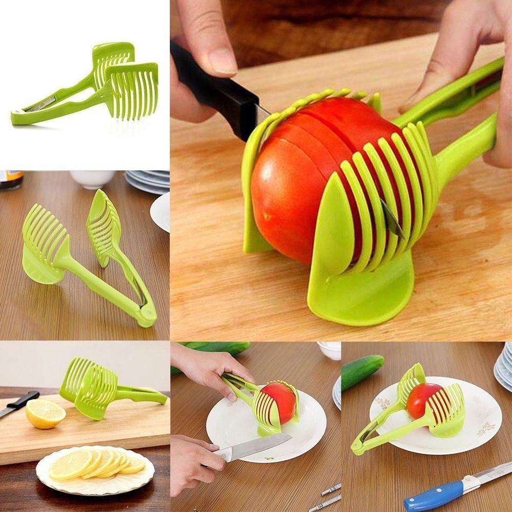 New Food Vegetable Fruit Tomato Onion Lemon Slicer Egg Peel Cutter Holder G3