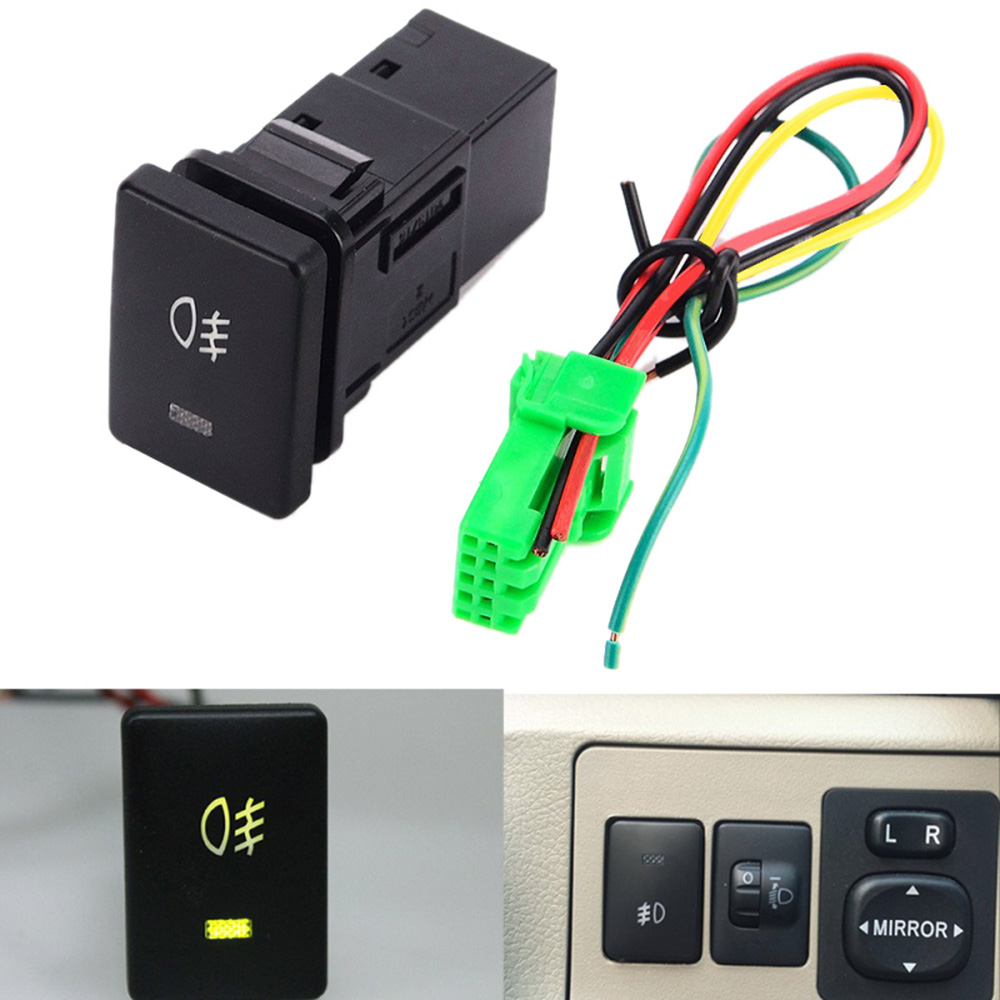 ON-OFF 4 Pins Headlamp Fog Light Switch Button DC 12V