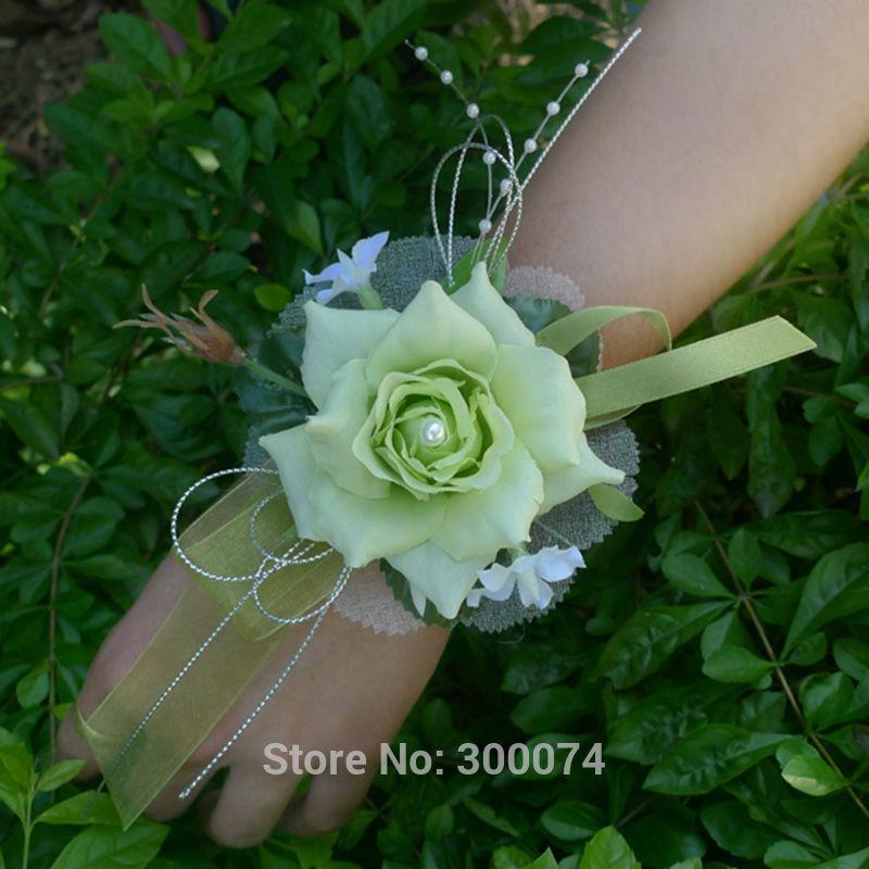 Light green prom corsage