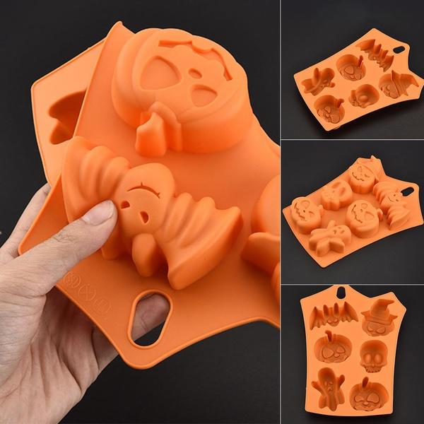 4Pcs Halloween Kürbis Geist Cookie Fondant Kuchen Dekoration Schneider Gussform