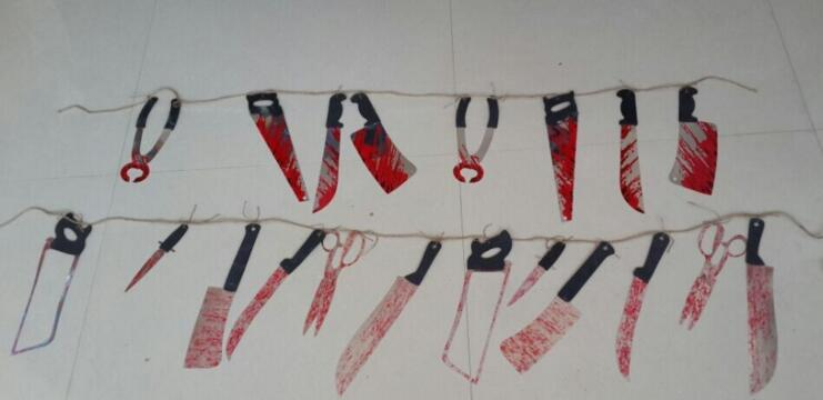 Halloween GORY GARLAND Severed Limbs Torture Tool hanging decoration party