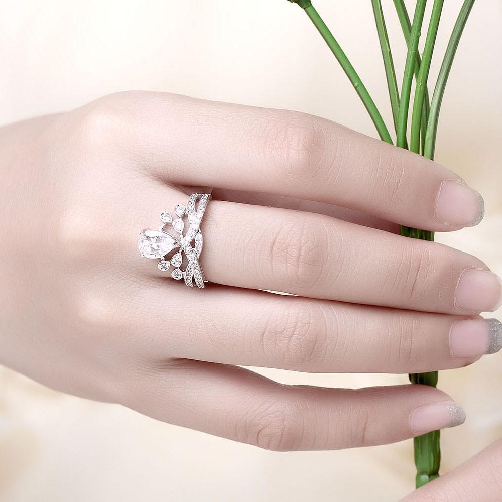 2018 Adjustable Cz Diamond Wedding Rings For Women Jewellery Vintage ...