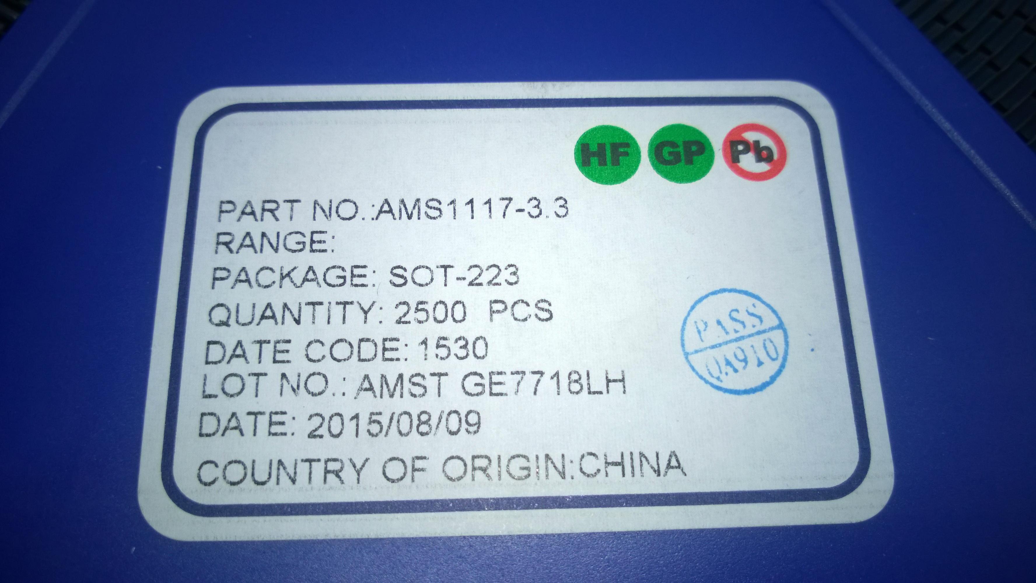 100Pcs AMS1117-3.3 LM1117 3.3V 1A SOT-223 Voltage Regulator good quality