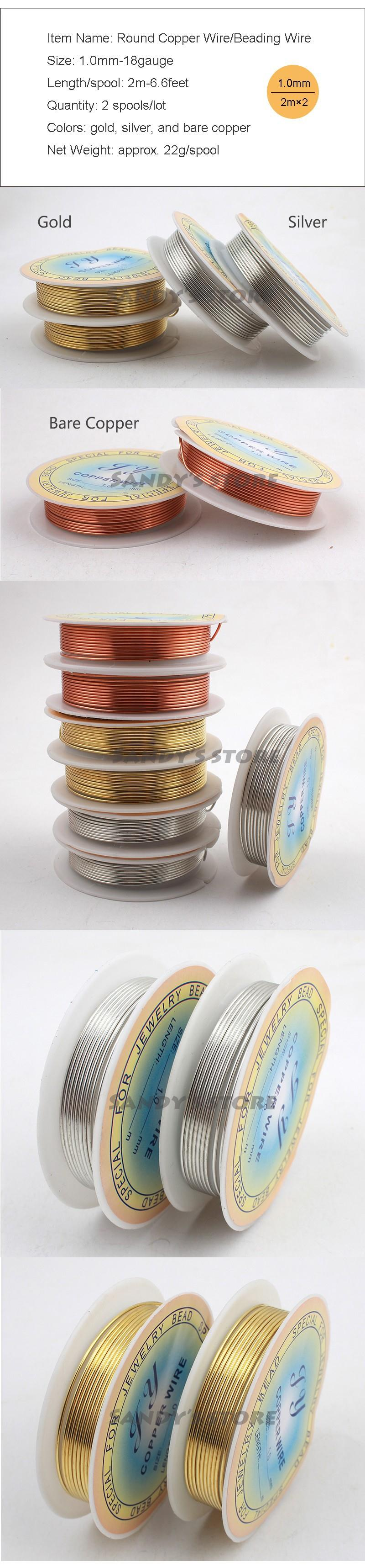Online Cheap Wholesale 18 Ga Jewelry Copper Wire Solid Gold Silver ...