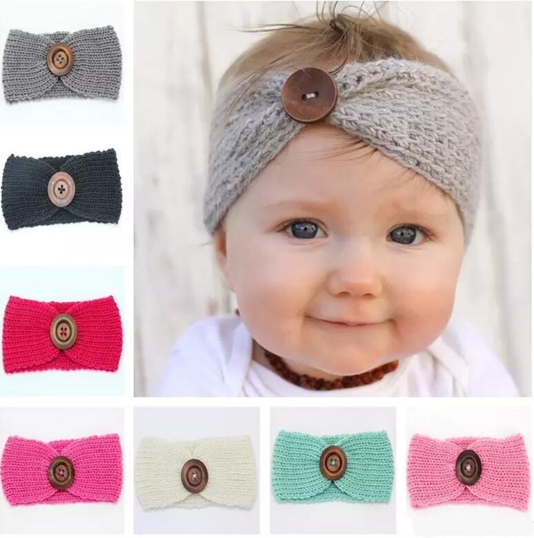 "24 pieces Newborn Baby Girl Headband CROCHET Flower Head Wrap Headwear 1.5/"""