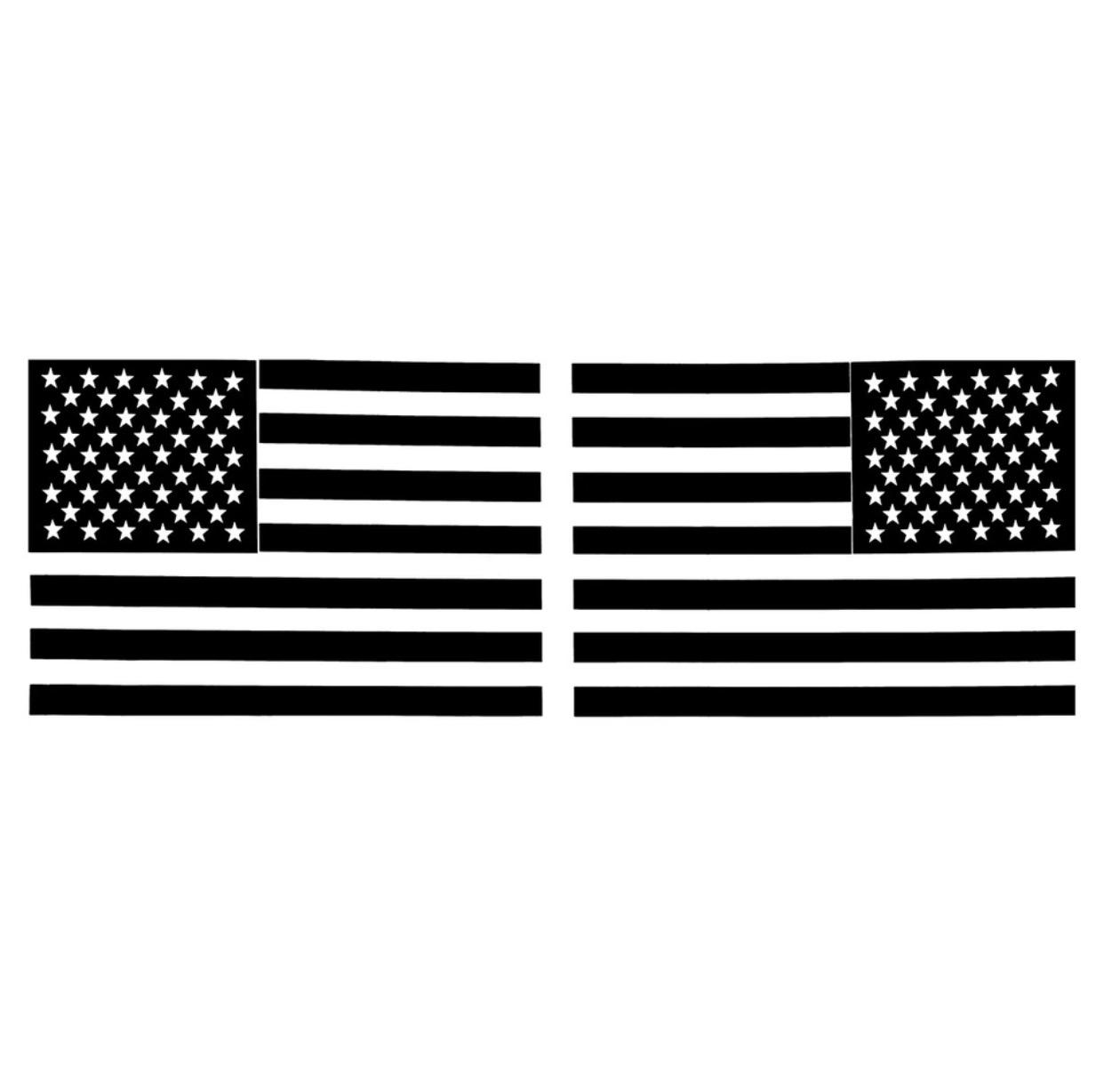 3D Metal American Flag Sticker Decal Mirrored Reverse Car Bike Truck Emblem