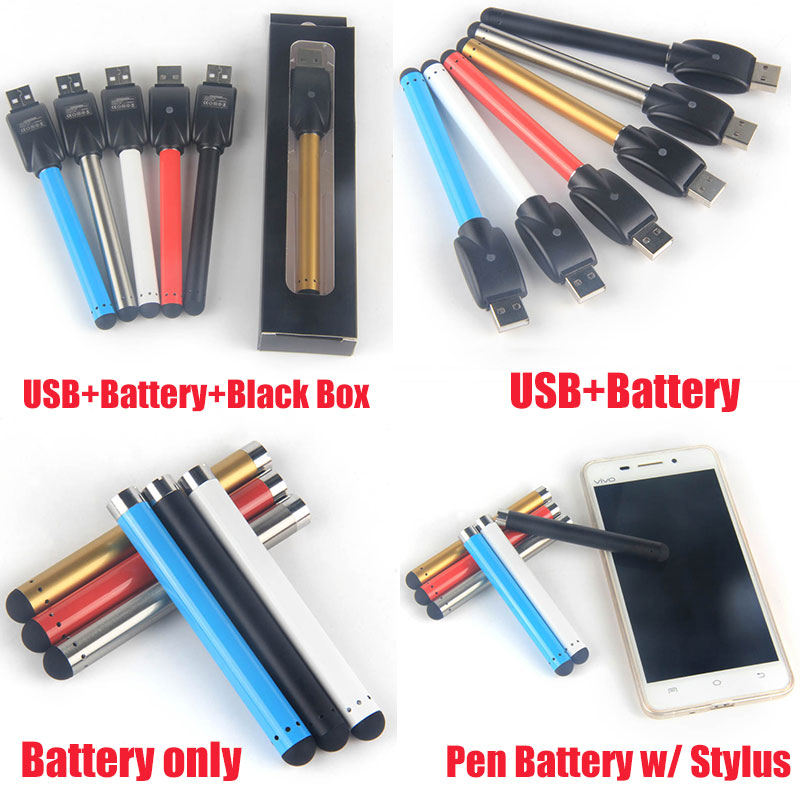 USB Charger O Pen Black Buttonless Bud touch Battery 510 Threading