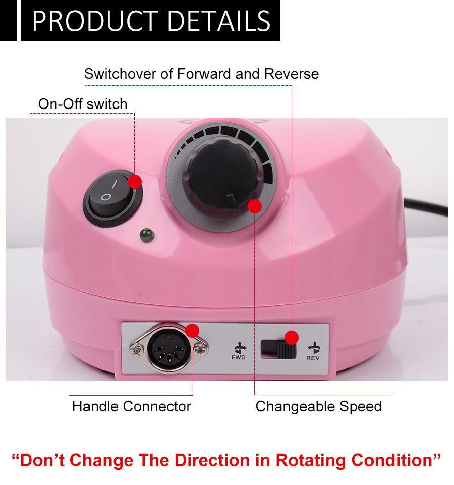 wholesale 35000 RPM Nail Drill Pro Electric Nail Drill File Machine ...