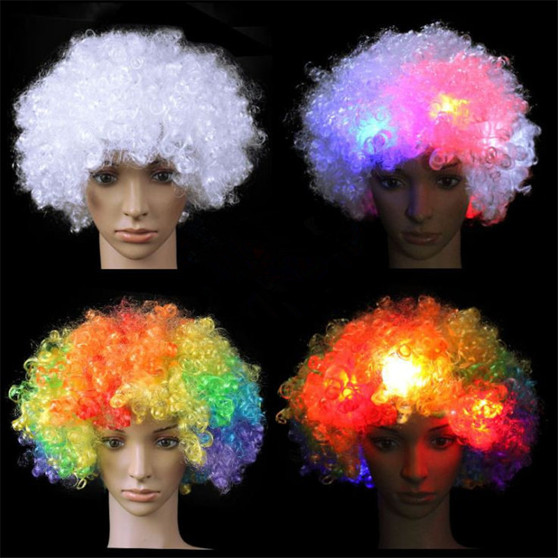 1x Unisex Clown Wig Circus Funny Fancy Party Dress Accessory Stage Disco Novelty