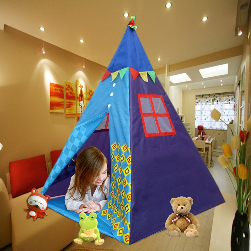 Portable Indian Pattern Toys Tent Play Teepees Safety Tipi Playhouse Activity House Kids Funny Indoor Game Outdoor Beach Tents (10)