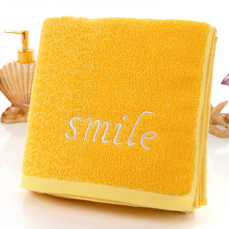 2020 Factory Outlets Yellow Cotton Towels Pink Gradient Creative Home Embroidery Lovers Gifts Wholesale Towel HY1231