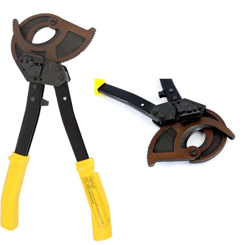 Pelacables pelacables multifuncional trinquete cortador de cable de aluminio herramienta de corte manual para reparaci/ón el/éctrica dom/éstica