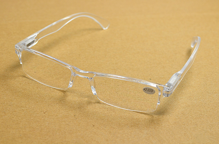 Custodia trasparente senza montatura per occhiali da vista e presbyopia 1.00-4.00 diottrie