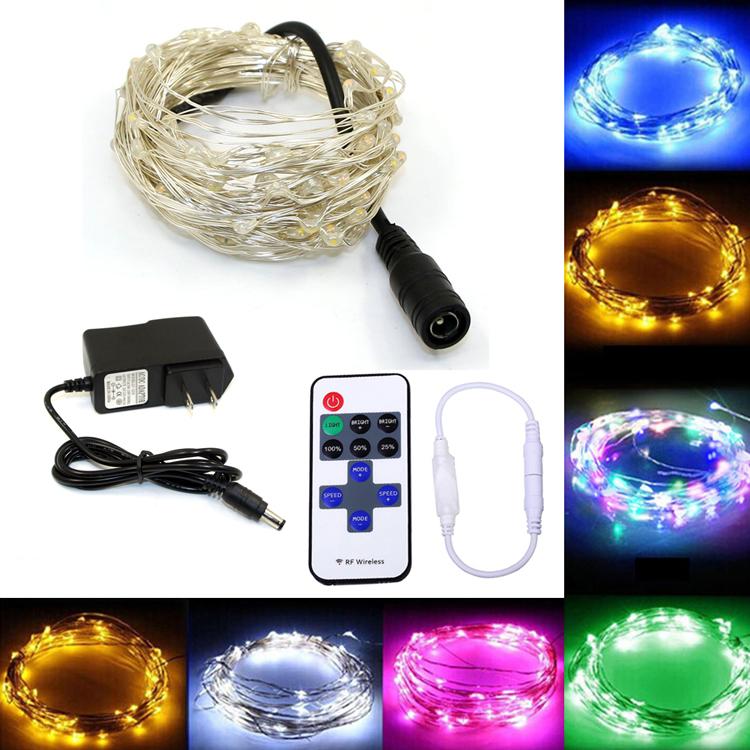 50PCS Kabel Lichtschnur LED Licht Draht Runde Lichter Leuchte Lichterkette IP68