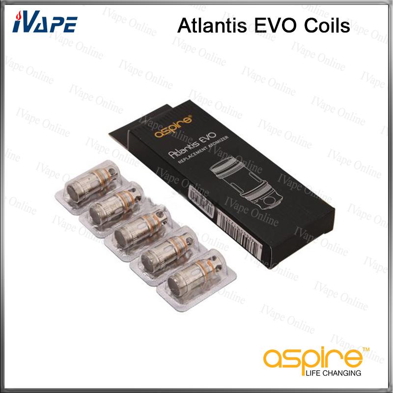 Aspire Atlantis V2 0.3//0.5//1.0 Ohm Coils Fits Atlantis Mega Evo Triton   Tobeco
