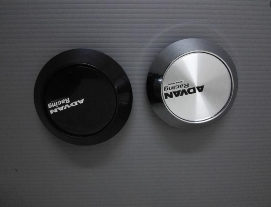 4 x Nuovo Vossen Stile 65mm Nero Cupola Ruota Tappo Adesivi