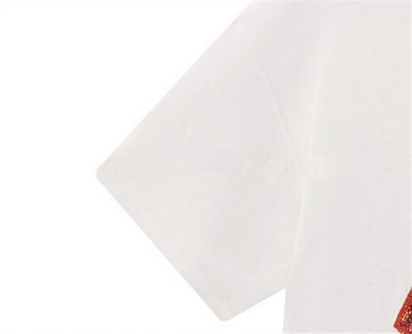 Europäische Mode Nizza Sommer Pailletten t-shirts Star Street frauen Kleid Lippen Handgefertigte Perlen Rundhals Kurzarm Lose T-shirts