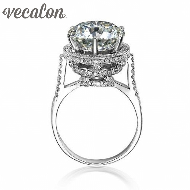 Buy For Less Simulated Pearl Center Cubic Zirconia Designer Ring 925 Sterling Silver