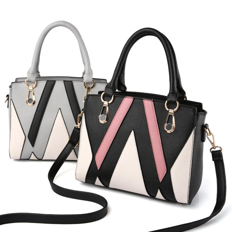 71146d7d0bd7 ... Class Ladies Handbags Totes Bag Fashion Women Geometric Handbag  Wholesale Two-tone Version Wild Girl ...