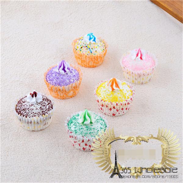 Artificial Cupcake squishy toys 6pcs - 1
