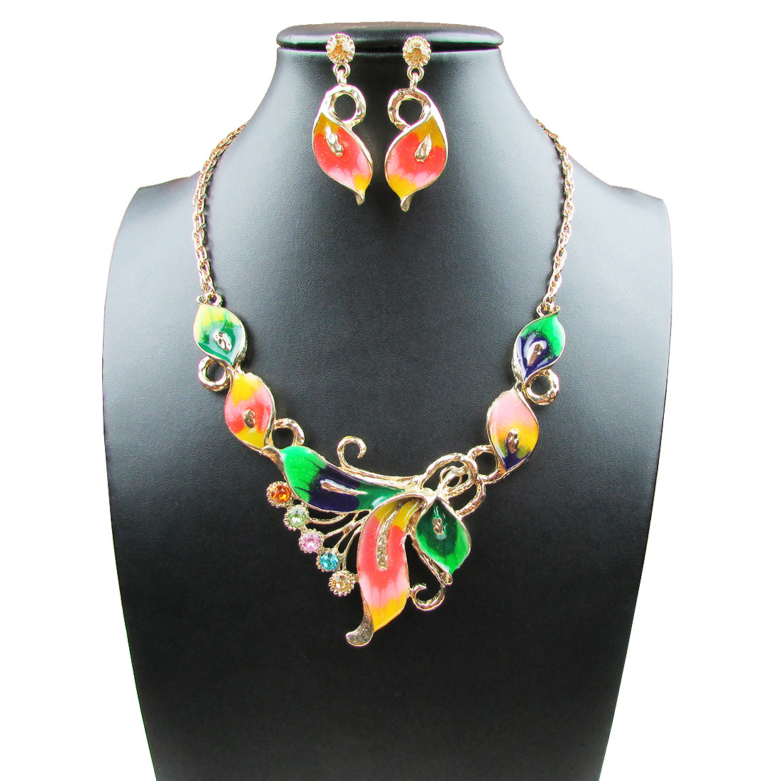 New Butterfly Jewelry Sets Necklace Earring+Bracelet Crystal Set Fashion G4