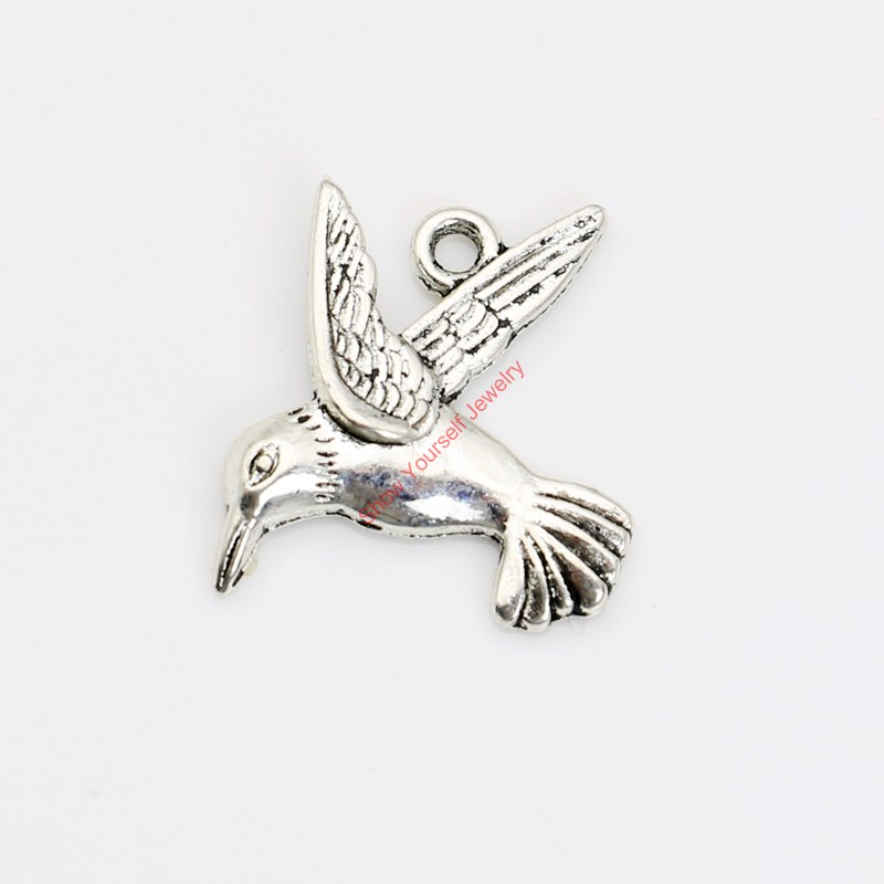 19mm 15 Metal Antique Silver Bird// Dove of Peace Charms// Pendants