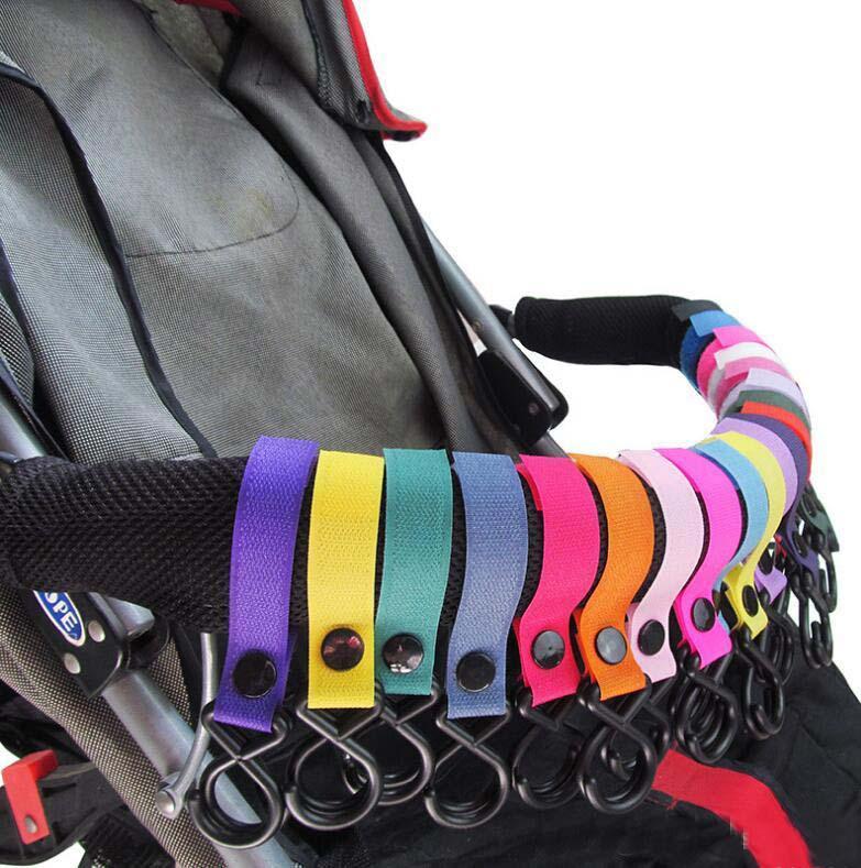 2PCS Universal Buggy Mummy Clips Landau Poussette Shopping Sac Crochet Mousqueton Clip