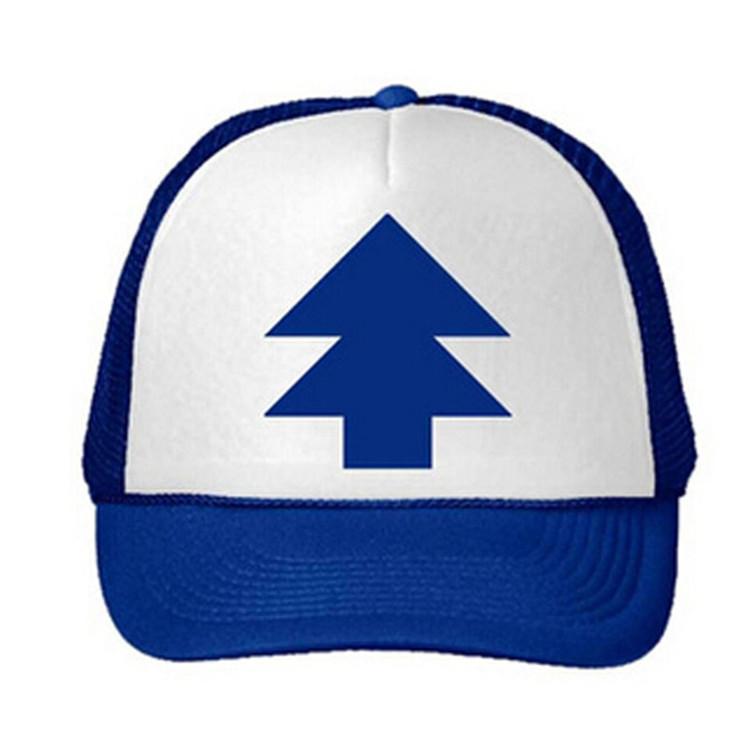 Fashion Unisex DJ Dancer Dipper Gravity Tree Blue Curved Bill Hat Cap Trucker