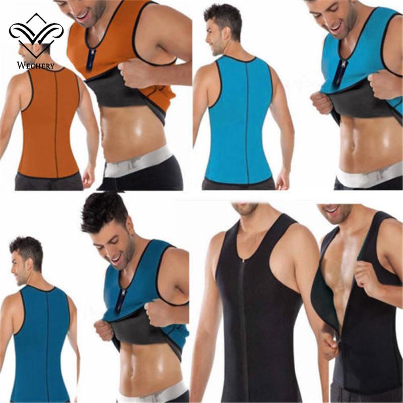 Men/'s Slim Shaper Neoprene Belt Sport Vest Sweat For Fat Burning Waist Trainer
