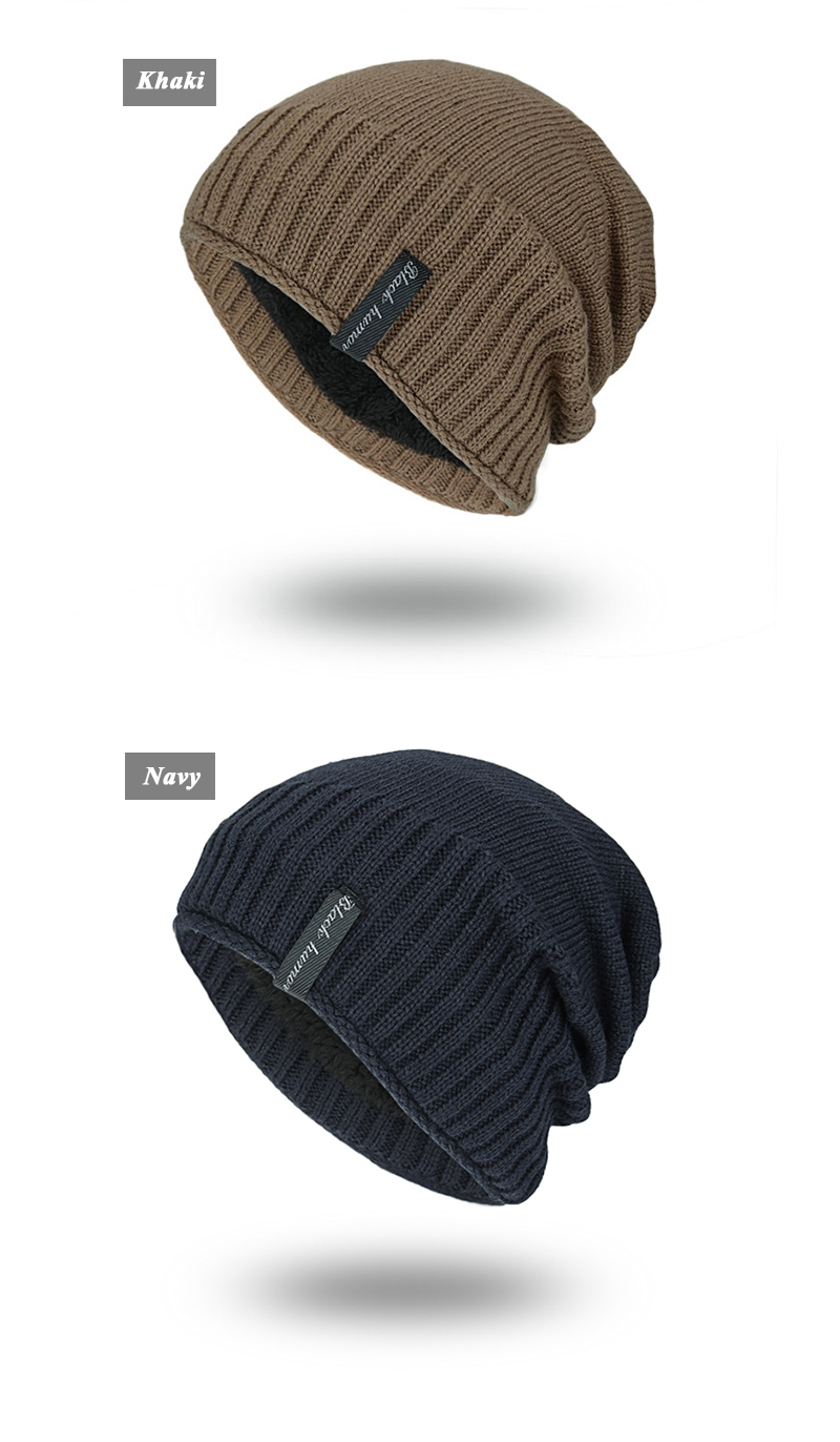 Joymay 2017 Winter Beanies Solid Color Hat Unisex Plain Warm Soft Skull Knitting