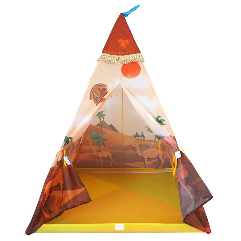 Portable Indian Pattern Toys Tent Play Teepees Safety Tipi Playhouse Activity House Kids Funny Indoor Game Outdoor Beach Tents (12)