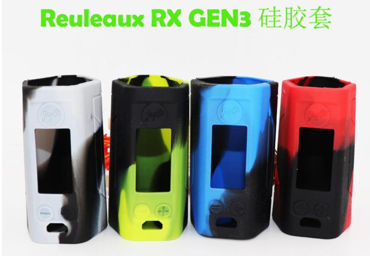 2019 RX GEN3 Silicone Cases Silicon Skin Cover Rubber Sleeve Protective Covers For Wismec Reuleaux RX GEN 3 Box Mod