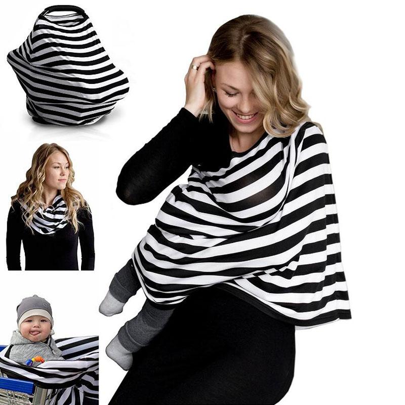 Lactancia Materna Bufanda Cubierta de Enfermer/ía 100/% Algod/ón Cubierta del Cochecito de Beb/é Nursing Cover Mantas de Lactancia