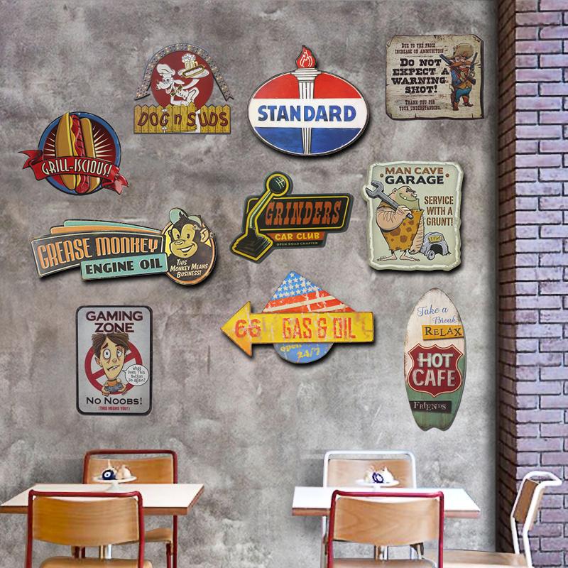 Metal Tin Sign reste dans l/'Homme Caverne Décoration Bar Pub Accueil rétro vintage