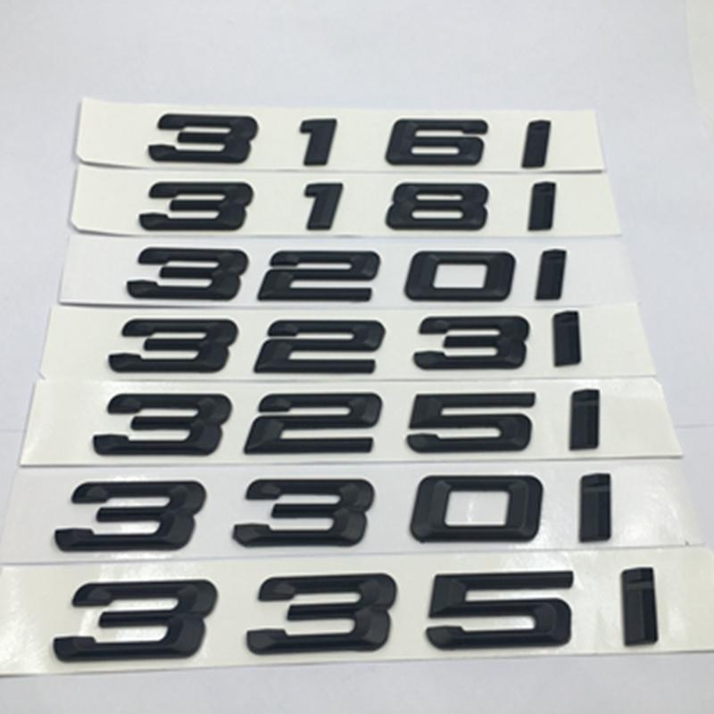 E92 E91 F31 G20 F30 Emblema de la Insignia del Tronco de la Tapa de la Parte Posterior de Letras Negras Brillantes 330i para los Modelos 3 Series E36 F34 E93 E46 E90