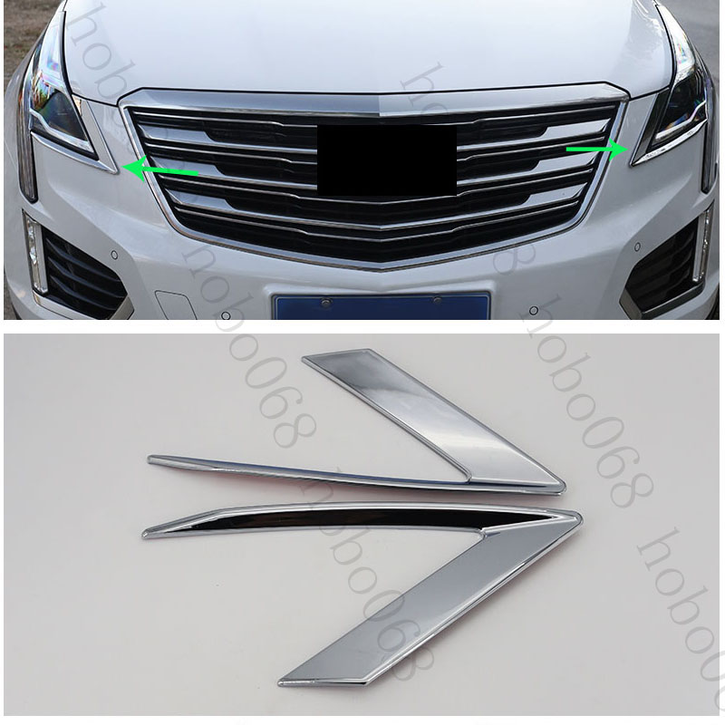 Metal Front Bottom Grill Grid Grille Trim 1pcs for Cadillac XT5 2016 2017