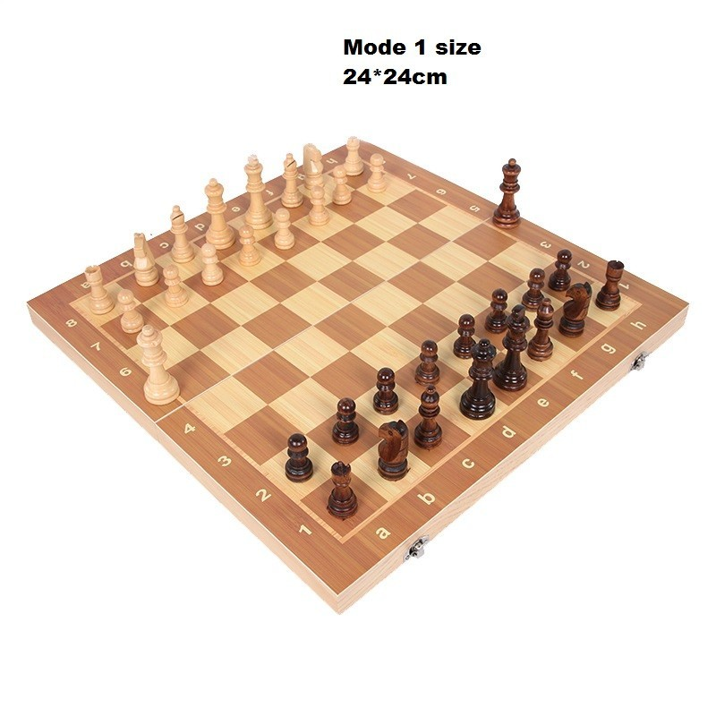 Wooden chess game with chess folding International Chess (3)