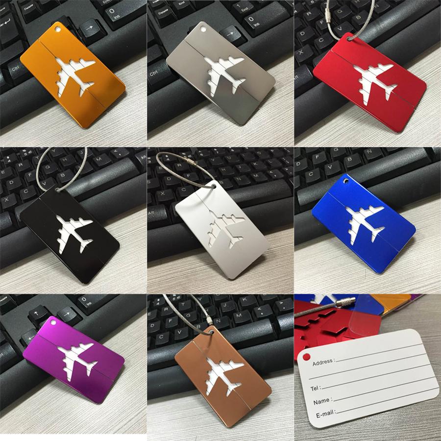 Aluminium Travel Metal Luggage Baggage Tags Suitcase Address Name Tel Labels Tag