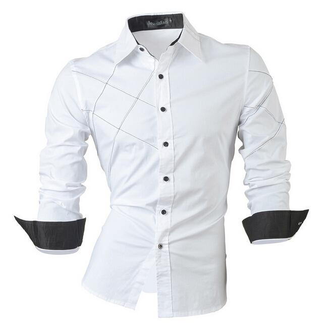 Alion Mens Fashion Long Sleeve Cotton Western Plaid Shirt Button Down Shirt
