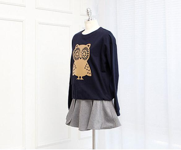 New Arrival Nice Women's Sweatshirts Korean Women Loose Turtleneck Sweater Owl Thin Section Sweatshirt Plus Size M-XXL