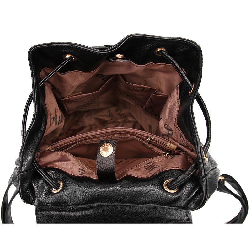 Studenti Zaino Donne Designer Zaini Collegio PU Leather Girl Carino Moda Donna Borsa a tracolla Borse Zaino Borse da viaggio